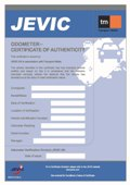 Malta Odometer Certificate of Authenticity 4